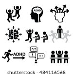 adhd   attention deficit... | Shutterstock .eps vector #484116568