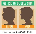 reduce double chin. get rid of... | Shutterstock .eps vector #484119166