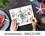 digital globalization internet... | Shutterstock . vector #484121200