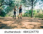 young sporty couple running in... | Shutterstock . vector #484124770