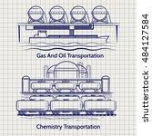 sketched factory industrial... | Shutterstock .eps vector #484127584