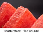 slices of ripe juicy watermelon ... | Shutterstock . vector #484128130