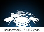 abstract hexagon pattern... | Shutterstock .eps vector #484129936