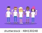 international group of people... | Shutterstock .eps vector #484130248