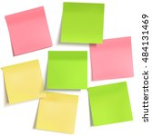 set of different empty colorful ... | Shutterstock .eps vector #484131469