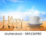 happy coffee cup | Shutterstock . vector #484136980