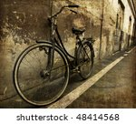 Old Bicycle In Invoice Wall...