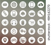 set of icons for web and user...