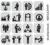 human resources and management... | Shutterstock .eps vector #484163449