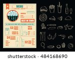 restaurant menu design elements ... | Shutterstock .eps vector #484168690