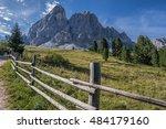green alpine meadows and... | Shutterstock . vector #484179160
