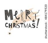 vector hand drawn lettering... | Shutterstock .eps vector #484179520