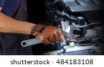 cropped view of hand with... | Shutterstock . vector #484183108