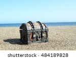 old classic wood and iron... | Shutterstock . vector #484189828