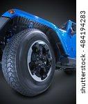 suv wheel part closeup... | Shutterstock . vector #484194283