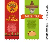icons music food mexican design | Shutterstock .eps vector #484195603