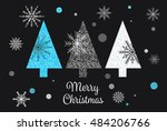 christmas tree card vector... | Shutterstock .eps vector #484206766