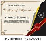 certificate of appreciation...   Shutterstock .eps vector #484207054