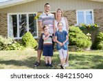 a portrait of happy family in... | Shutterstock . vector #484215040