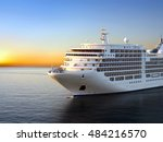 luxury cruise ship sailing from ... | Shutterstock . vector #484216570