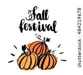 "inscription ""fall festival""... | Shutterstock .eps vector #484219678"