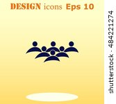group of people icon  friends... | Shutterstock .eps vector #484221274