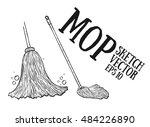 mop cartoon vector sketch  ...   Shutterstock .eps vector #484226890