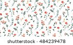 trendy seamless floral pattern... | Shutterstock .eps vector #484239478