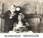 woman getting advise on turkey... | Shutterstock . vector #484243108