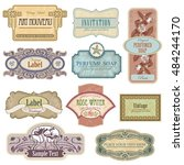 ornate vintage labels in style... | Shutterstock .eps vector #484244170