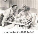 breakfast in bed | Shutterstock . vector #484246243