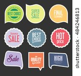 badges and labels collection | Shutterstock .eps vector #484246813