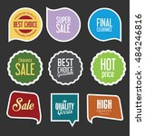 badges and labels collection | Shutterstock .eps vector #484246816
