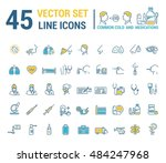 vector graphic set in linear... | Shutterstock .eps vector #484247968