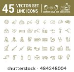 vector graphic set in linear... | Shutterstock .eps vector #484248004