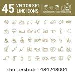 vector graphic set in linear... | Shutterstock .eps vector #484248004