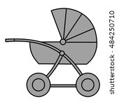 buggy. isolated object. vector... | Shutterstock .eps vector #484250710