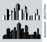 vector illustration. cityscape. ... | Shutterstock .eps vector #484277464