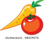 vegetables vector image | Shutterstock .eps vector #48429076
