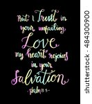 my heart rejoices in your... | Shutterstock .eps vector #484300900