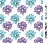 spring flowers background | Shutterstock .eps vector #484310284