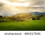 beautiful landscape with... | Shutterstock . vector #484317040