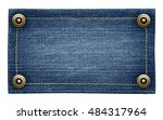 worn blue jeans tag texture....   Shutterstock . vector #484317964