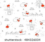 seamless pattern merry...