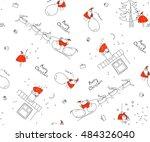 seamless pattern merry... | Shutterstock .eps vector #484326040