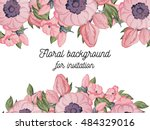 abstract flower background with ... | Shutterstock .eps vector #484329016