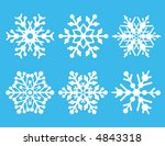 a collection of six vector... | Shutterstock .eps vector #4843318