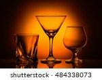 Three Glasses Whiskey Cognac...
