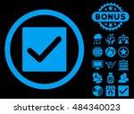 check icon with bonus symbols....