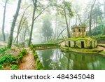 park of palacio nacional de...   Shutterstock . vector #484345048